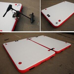 Image 5 - Dwf da Pesca Galleggiante Acqua Piattaforma Resistente Allusura Gonfiabile Air Deck Goccia Punto Dock + Pagaia + Mano  pompa per 1 3 Persone