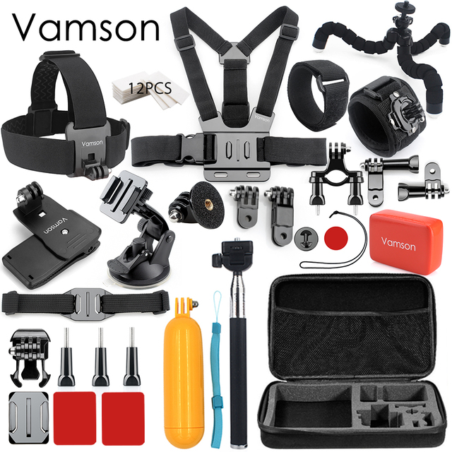 Vamson for GoPro accessories 42 in 1 Set Family Kit for SJ4000 package for GoPro HD Hero 7 6 5 4 for xiaomi
