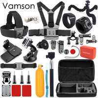 Vamson for GoPro accessories 42 in 1 Set Family Kit for SJ4000 package for GoPro HD Hero 5 4 for xiaomi