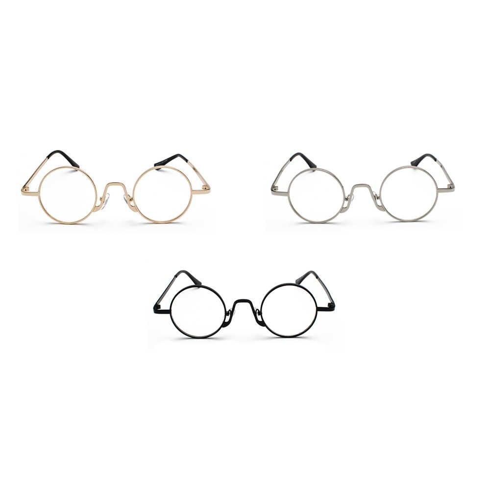 8896f178fb5 ... Kachawoo Vintage Retro Round Circle Metal Frame Eyeglasses Women Small Glasses  Frame Men Nerd Decoration Dropship