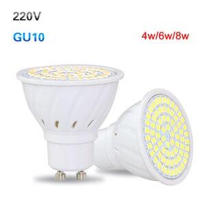 Image 3 - 10X GU10 LED Spot Light 4W 6W 8W Full Power 36Leds 54Leds 72Led Lamp For Kitchen Hotel Art Lighting Lampada Led AC220V 230V 240V