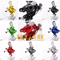 8 Colors CNC Rearsets For Honda CBR 400RR 900RR 893cc 919RR SC33 NC29 NC28 Rear Set Motorcycle Adjustable Foot Stakes Pegs Pedal