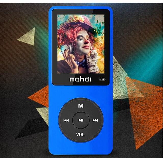2016 Nueva Original MAHDI M280 Altavoz Reproductor de MP3 con 8 GB de almacenamiento y 1.8 Pulgadas de Pantalla puede jugar 80 h ultrafino mp3