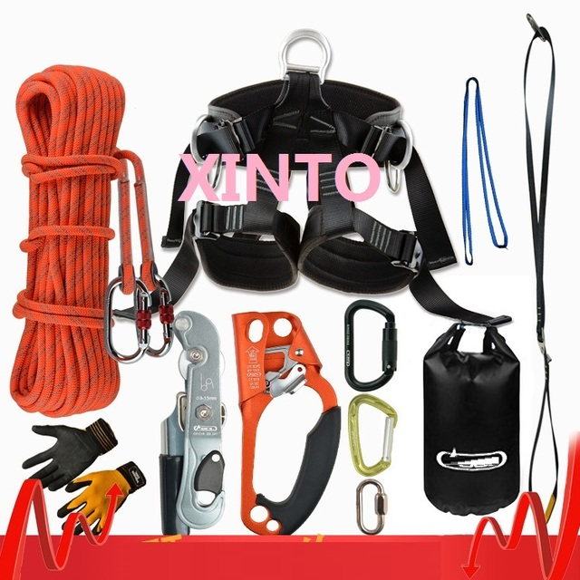40M 2800KG ascend-descend aerial work fast safety insurance working rope sport harness, outdoor glass clean tool lifting sling