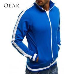 Oeak лоскутное демисезонный куртки для мужчин демисезонный повседневное одноцветное пальто для будущих мам хлопок мужская верхняя одежда