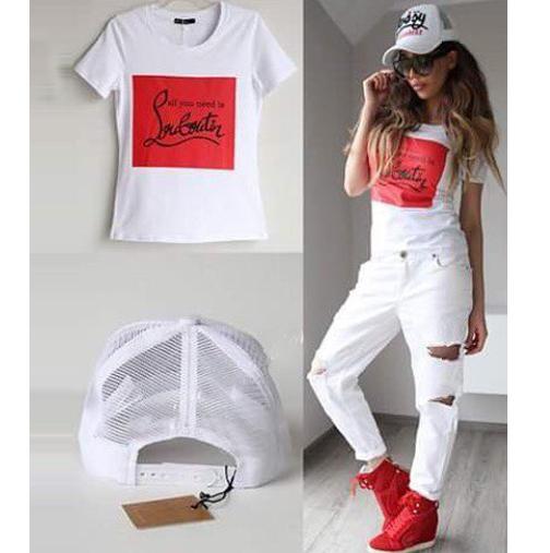 2016 Camiseta Del Verano Las Mujeres Ropa Americana 100% Algodón de Las Mujeres Corto manga Letras Imprimir Camisetas Punk Blusa Camiseta Femme Tops