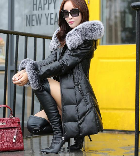 Aliexpress.com : Buy 2016 New Women Warm black Winter Coat Fox Fur