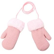Детские теплые перчатки для маленьких девочек и мальчиков, уличные зимние Лоскутные теплые варежки, перчатки#4j11