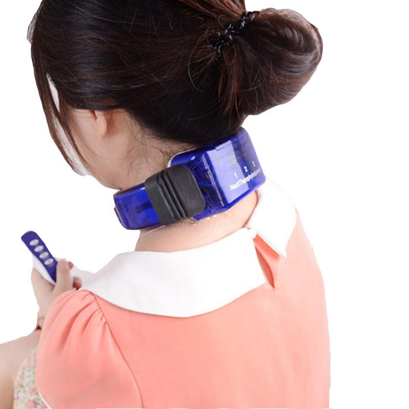 Électrique masseur pour le cou thérapie instrument massage de la colonne cervicale cou Soulagement de La Douleur thérapie vibration vertèbre soins de Santé masseur