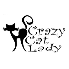 13.7cm*8.1cm Crazy Cat Lady Animal Accessories Car Sticker Motorcycle S4-0770