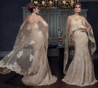 Lace Appliques Wedding Dress For Mothers/Mother of Bride/Groom V neck Plus Size