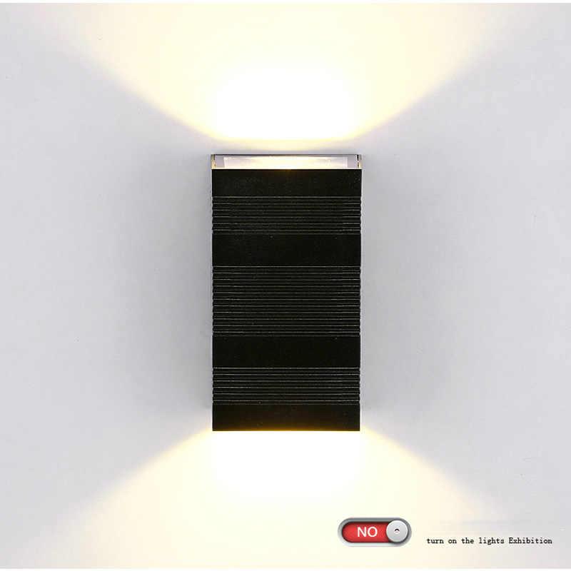12 Вт IP65 Водонепроницаемый наружный настенный светильник/напольный настенный светильник/светодиодный Светильники для крыльца/Водонепроницаемый лампа наружного освещения настенный светильник