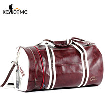 PU Leather Sports Gym Bag Multifunction Training Fitness Shoulder Bags Traveling