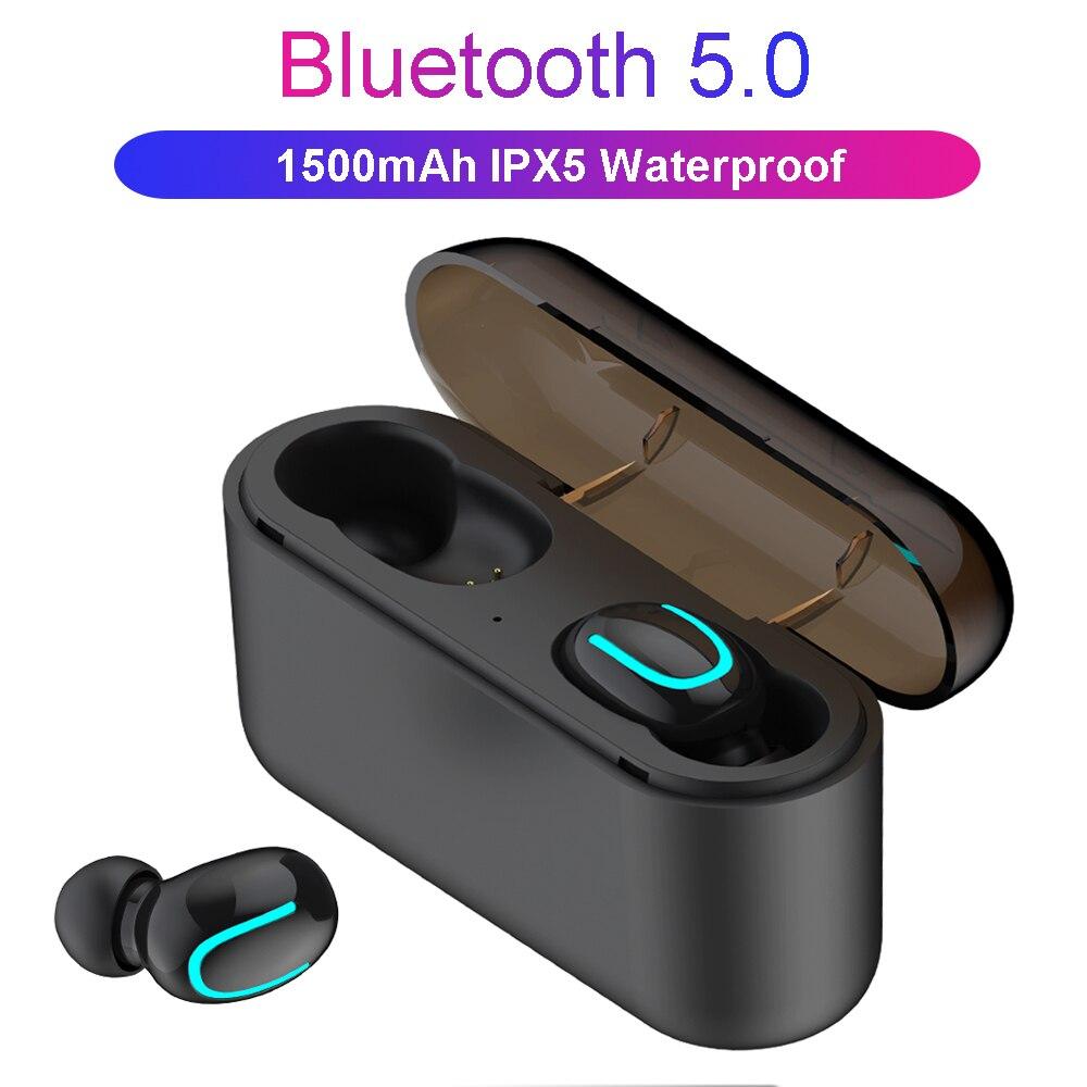 61d6772a3cea9b TWS Wireless Bluetooth 5.0 Earphones Handsfree True Wireless Stereo Earbuds  1500mAh Charging Bluetooth Wireless Earphone-in Bluetooth Earphones &  Headphones ...