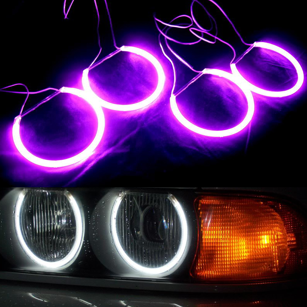 High Quality CCFL Angel eyes halo ring kit for Lada Vaz 2106 white blue red Green purple 5colors high brightness 4*131mm rings 4pcs set car 6 color optional headlight ccfl angel eyes halo rings kits for lada vaz 2109 fd 1274