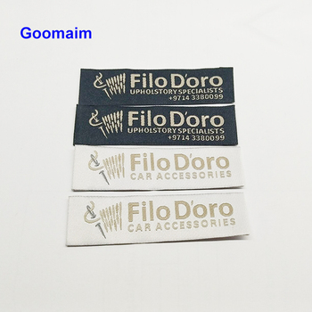 factory custom garment logo wooden shuttles woven labels customized high quality ladies clothes personality name bag labels