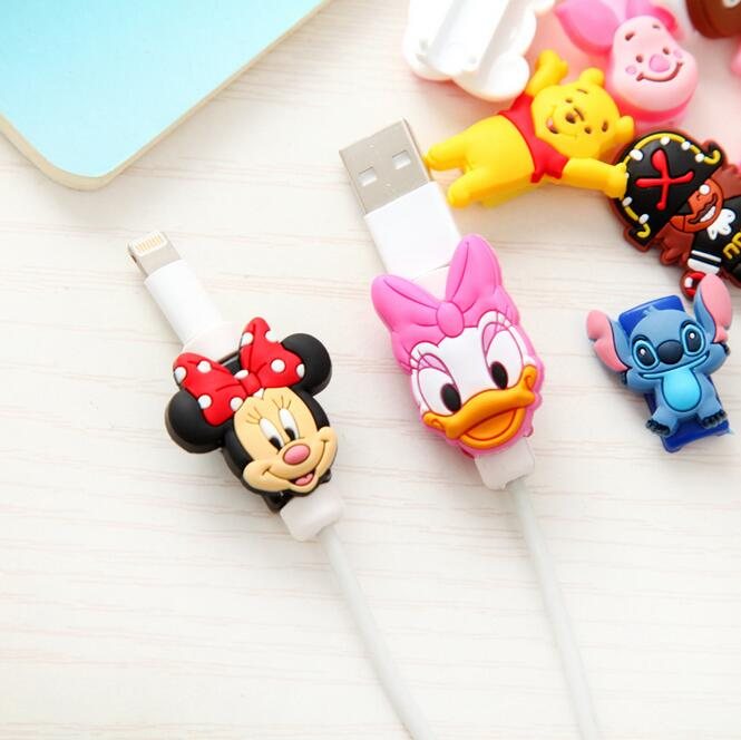 5pcs/lot Cartoon Animal USB Data Cable Line Protector Anti Breaking Protective Sleeve For Charging Cable Earphone Line