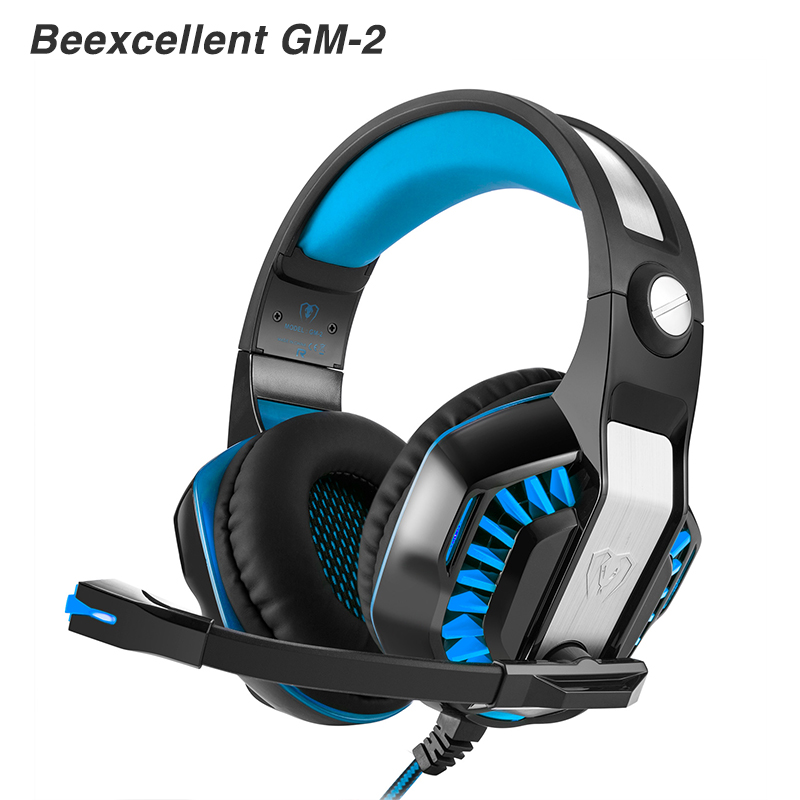 Beexcellent GM-2 PC Gaming gamer headset Headphones Headphone Wired stereo Bass Computer with microphone LED for pc gamer beexcellent gm 1 pc gaming gamer headset headphones headphone wired stereo bass with microphone led for computer pk xiaomi