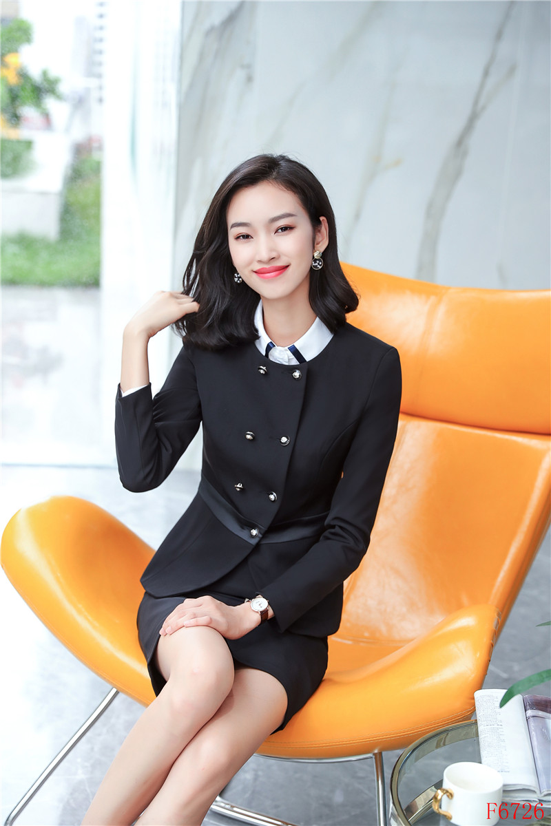 Élégante Work Formelle Jupe Veste Uniforme Blazer Styles Wear Mode D'affaires Et Avec De Bureau Femmes Noir Costumes Ensembles zgfSqz