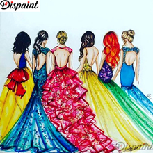 Dispaint Full Square/Round Drill 5D DIY Diamond Painting Oil painting beauty Embroidery Cross Stitch 3D Home Decor Gift A11516