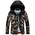 New listing 2016 Winter Afs Jeep Men Down Parkas Jackets Fashion Man Hooded Thick Warm Outwear Overcoat Wadded Coat Camouflage