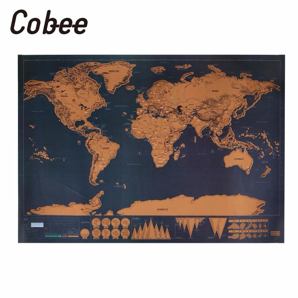 Cobee travel edition scratch off world map poster personalized cobee travel edition scratch off world map poster personalized journal map home decor material escolar in map from office school supplies on gumiabroncs Image collections