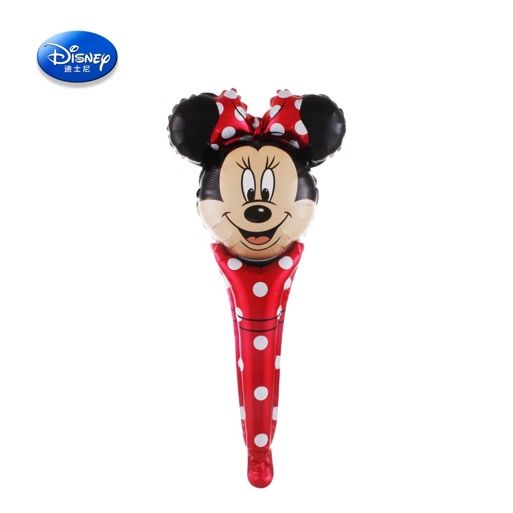 Disney Genuine Inflatable Toys Balloon Mickey and his friends Aluminium film Cartoon Handheld Sticker Bats Stick image