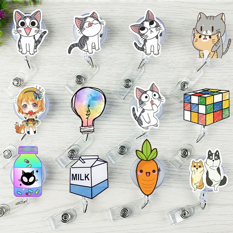 1Pcs New Cartoon Cat Carrot Girl Bank Credit Card Holder Interesting Gifts Badge Holder Accessories Stationery