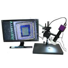 1080 P Salida HDMI Industria Digital Video Cámara TF Tarjeta de la Cámara 60FPS + 180X Microscopio C-MOUNT Lente Zoom + Free Soporte giratorio