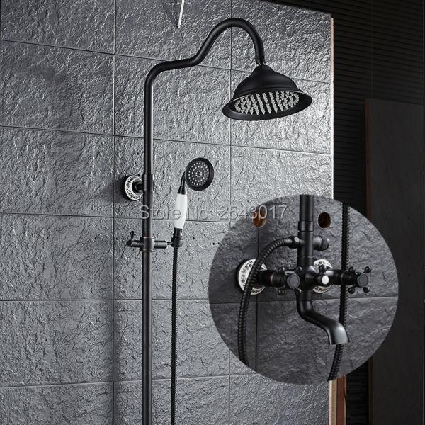 Elegant Bathroom Shower Curtains: Aliexpress.com : Buy Elegant Bathroom Shower Set Black