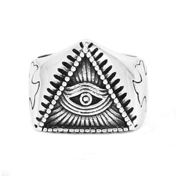 Pyramid Eye Illuminati Symbol Ring2