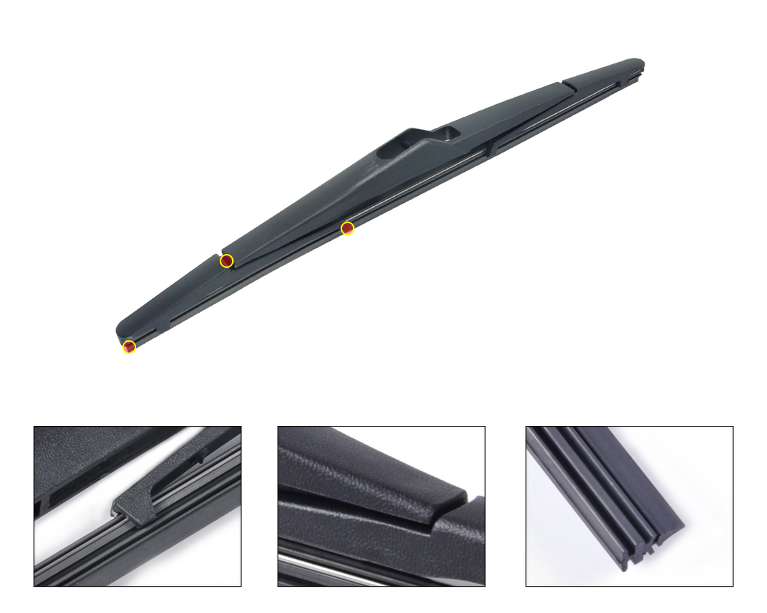 DWCX 12 / 300mm Rear Rain Window Windshield Wiper Blade For Ford Focus 2012 for Fiesta 2008 2009 2010 2011 2012 2013 +