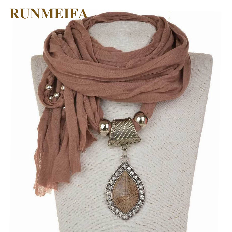 New Design Statement Jewelry Scarf Necklace For Women Fashion Luxury Charms Accessories Pendant Necklace Scarf Scarves In Stock
