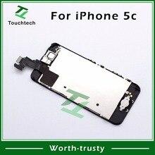 50 шт. AAA+ для Pantalla iPhone 5c ЖК дисплей планшета дисплей с сенсорным полный экран черный Замена Фронтальная камера Запчасти