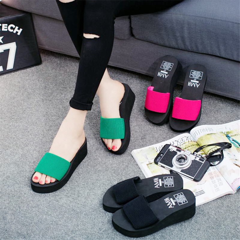 Women sandals wedge Summer Platform Casual Shoes Woman Floral Super Open Toe Slippers Sandalias Zapatos Mujer недорго, оригинальная цена