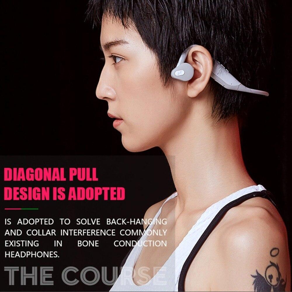 Écouteurs Bluetooth sans fil imperméables à la Conduction des os noirs écouteurs anti-poussière pour le sport cool