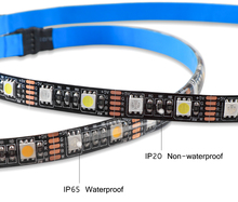 Flexible RGB and White USB LED Strip Light with RF Remote Controller
