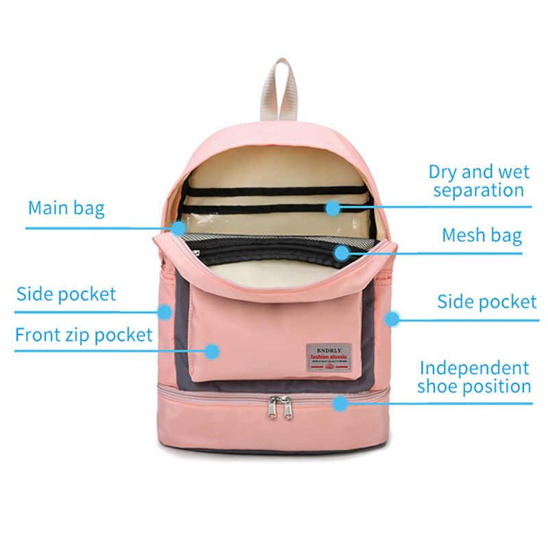 المرأة حقيبة ظهر للتدريب حقيبة اللياقة حقيبة للسفر للماء الجاف و الرطب بولسا ديبورتي موهير كيس دي الرياضة Gymtas فام XA850WA