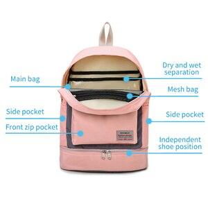 Image 4 - Women Gym Backpack Dry Wet Fitness Bag Travel Rucksack Waterproof Mujer Sac De Sport Gymtas Swimming Bag Training Bags XA850WA