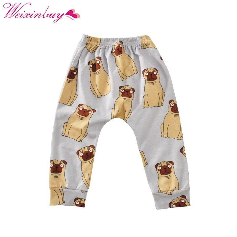 2017 Frühling Herbst Kinder Jungen Mädchen Hosen Kleidung Tier Gedruckt Lose Beiläufige Hosenhose Chinesische Aromen Besitzen
