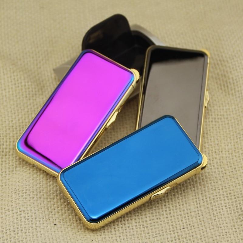 2016 Creative Shinning Color Metal USB Charging Pulse Arc Lighter electronic cigarette lighter