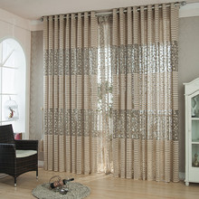 Europe style solid tulle sheer window curtains for living room the bedroom kitchen modern tulle curtains fabric drapes panels 1 pair of sheer window tulle fabric curtains