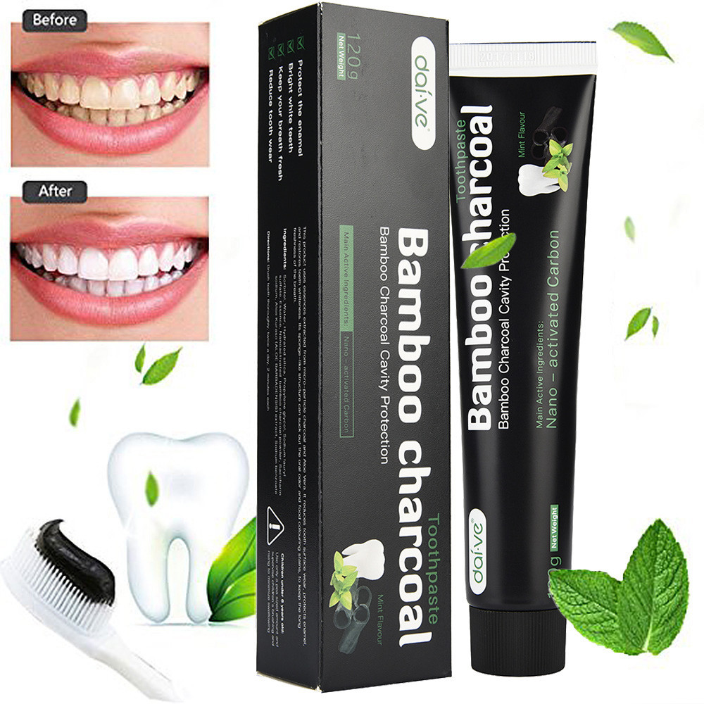 100% Toothpaste Activated Bamboo Charcoal Teeth Whitening Toothpaste Natural Black Mint Flavor Herbal Oral Care Drop Shipping