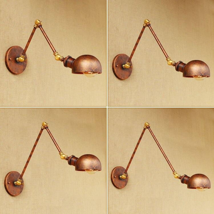 Rust Loft-Stil Industrielle Wandleuchten Wandlampen Swing Long Arm - Innenbeleuchtung - Foto 2