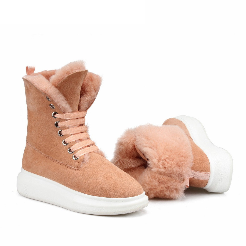 Women Snow Boots Light Khaki (4)