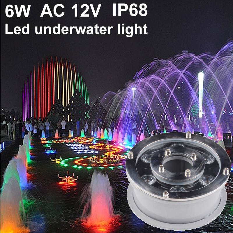 Rgb Led Underwater Light 6w 12v Ip68 Led Pool Light Spot Led Fountain Lights Swimming Pool Lamp