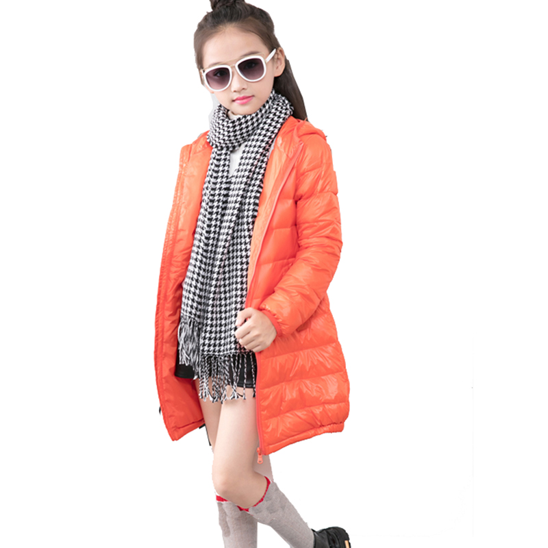 New Kids Girls Boys Winter Clothing Long Down Parkas Wadded Jacket Outerwear Cotton-Padded Coat Girls 4 5 6 7 8 9 10 years old 2017 new children baby winter cotton padded jacket toddler girls boys zipper nylon coat fashion outerwear kids parkas clothes