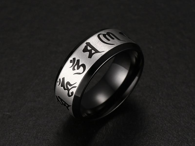 Men's Om Mani Padme Hum Ring 1