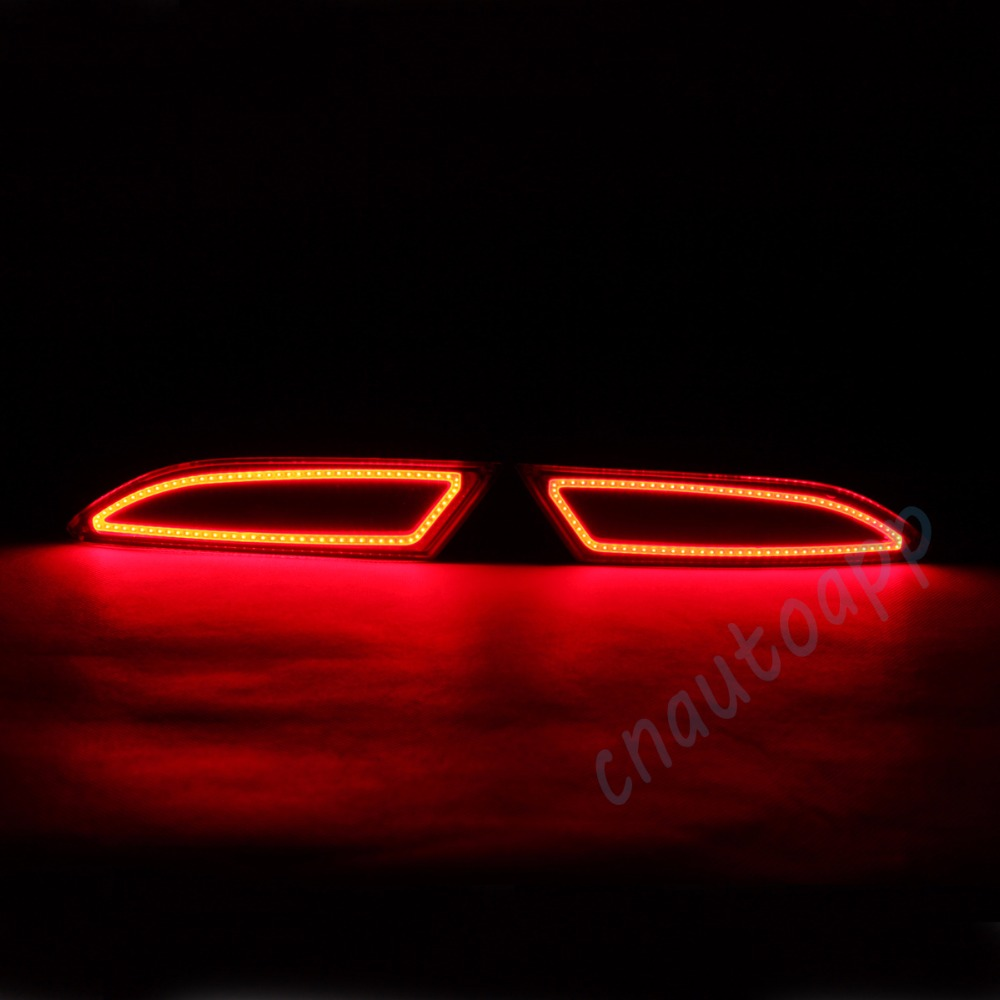 LED Rear Bumper Warning Lights Car Brake Lamp COB Running Light  For Ford Focus 2012-2017 Sedan / 2012-2014 Hatchback (One Pair)