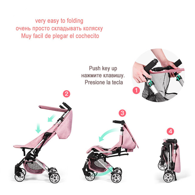 Babyyoya Lightweight Portable Folding 2 in 1 Baby Trolley
